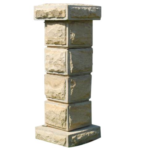 Yellow Irish Stone Pillar