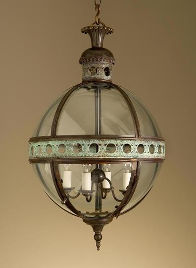 Helena Round Glass Ball Pendant
