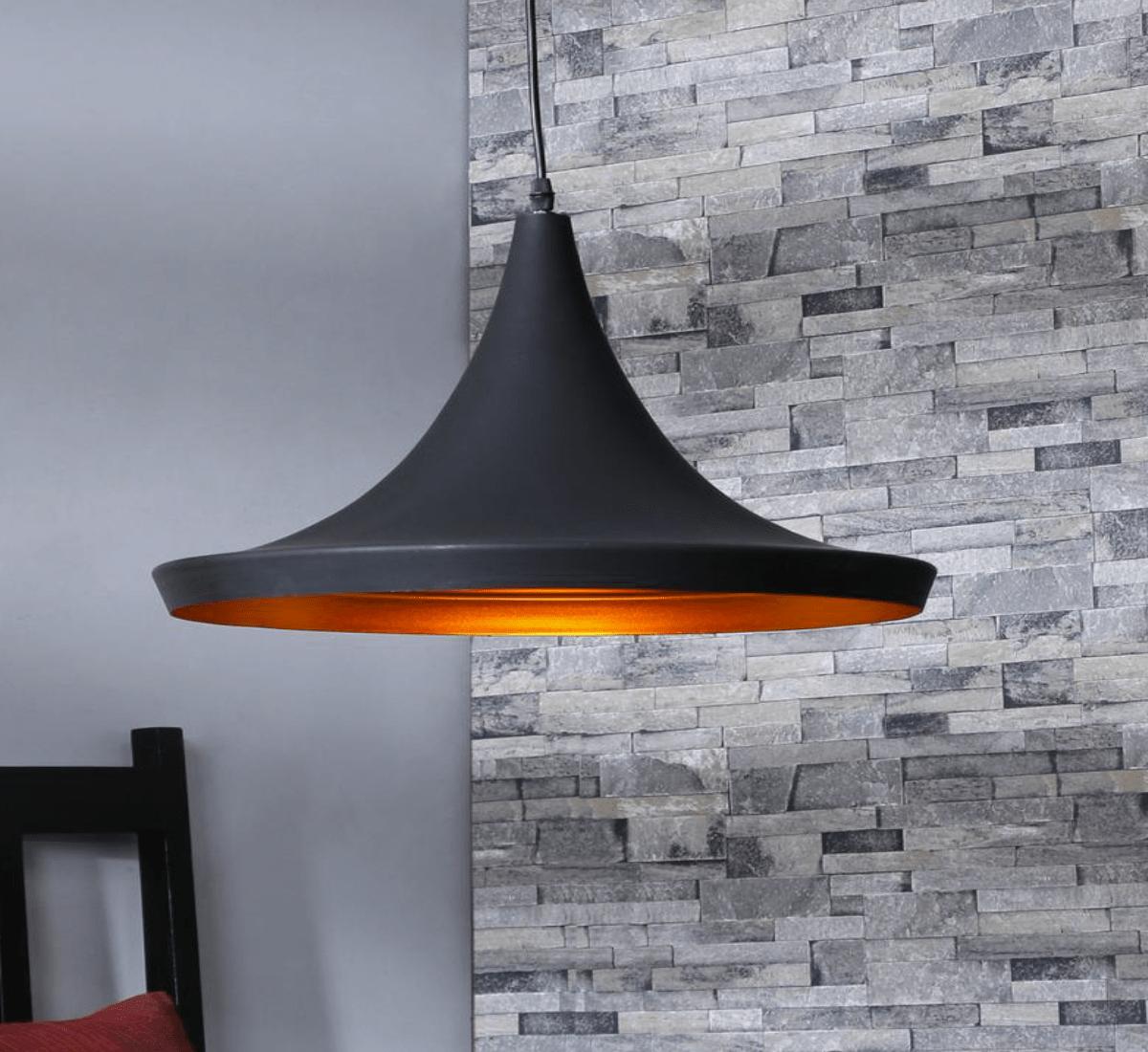Sylvia Black Metal Wide Pendant Lamp