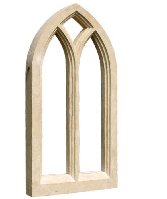 Stone Gothic Arc Window