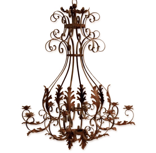 Acanthus Candle Chandelier